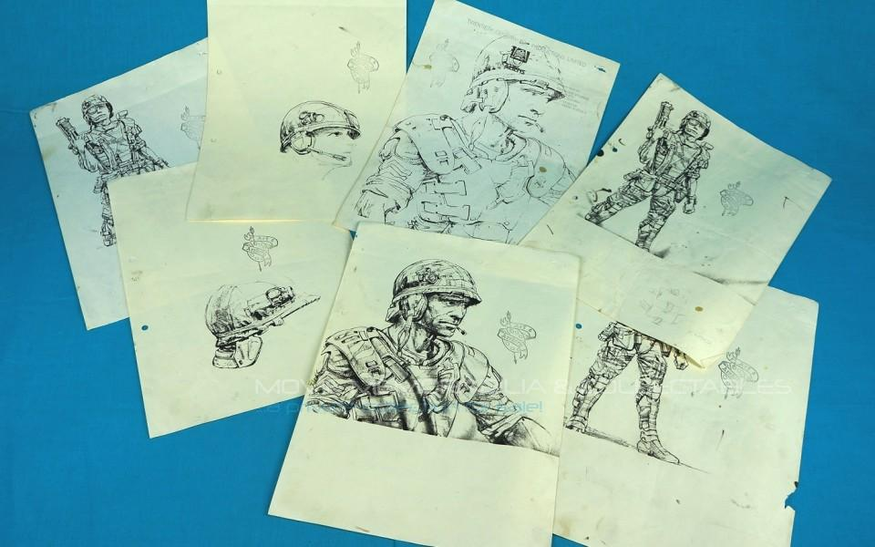 Aliens: SPACE MARINES Original J.Cameron drawings printed blueprints set