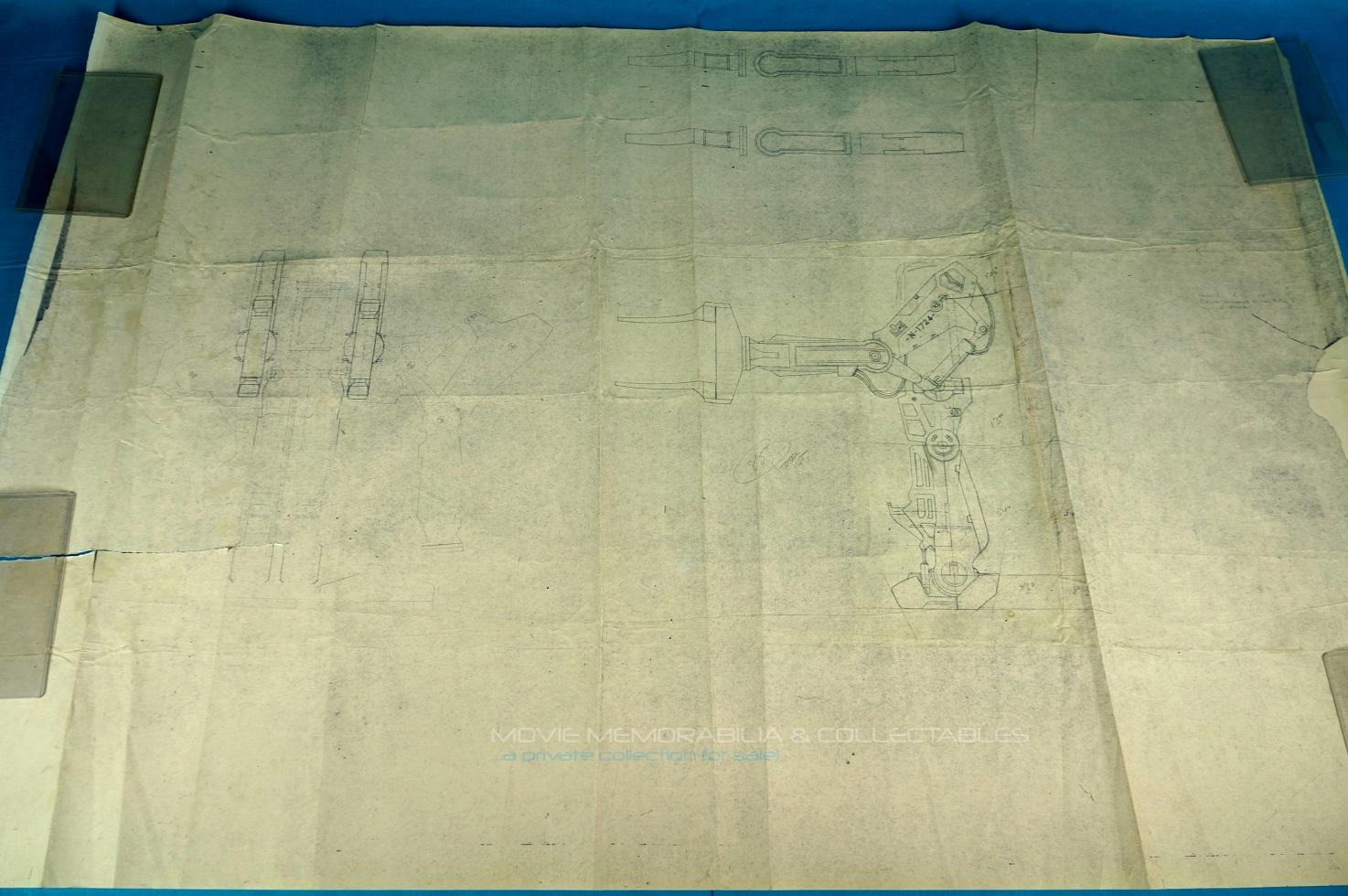 Aliens: POWER LOADER, original printed blueprint